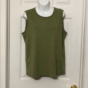 Olive green White Stag tank top size XL NWOT